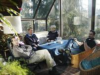 Haus Lillamor verfügt über einen schönen Wintergarten, der einlädt zum Lesen, den Tag genießen, Spiele spielen oder einfach zum Faulenzen...